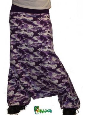 Sarouel camouflage violet