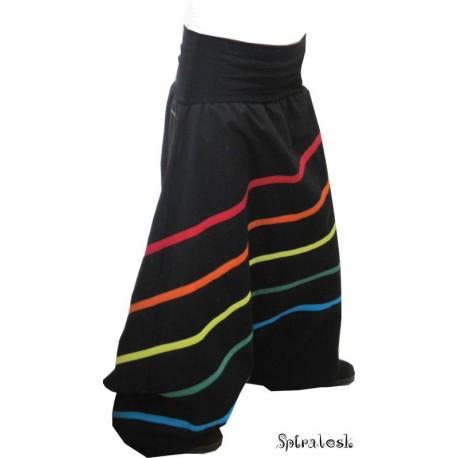 Sarouel à bandes multicolor