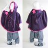 Cape enfant 4 / 7 ans violet / fuschia