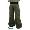 Wide linen khaki pants