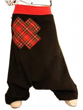 Sarouel croix écossais rouge