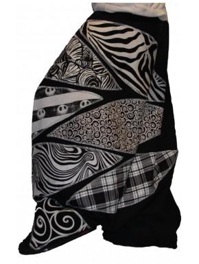 Sarouel patch noir et blanc