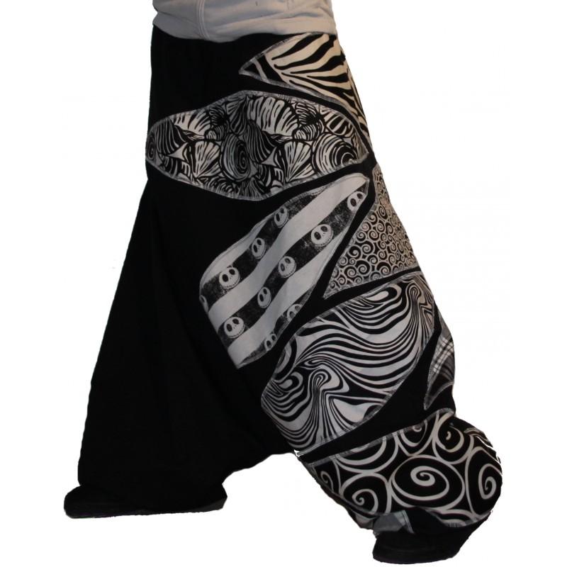 Sarouel patch noir et blanc Sarouel patch noir et blanc