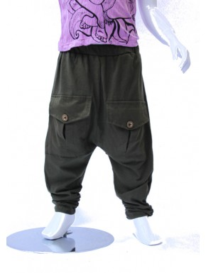 Sarouel enfant kaki à poche