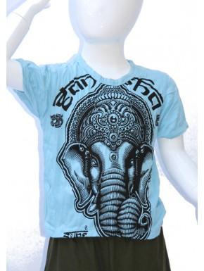 Tee shirt enfant ganesh bleu M