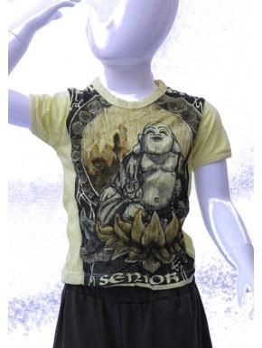 Tee shirt enfant boudha  jaune S