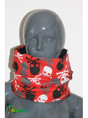 Écharpe tube tête de mort
