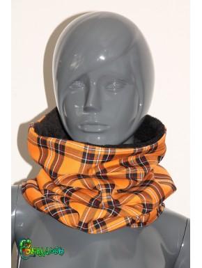 Écharpe tube écossais orange