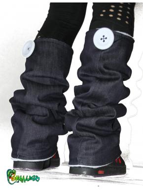Guêtres jean brut  et polaire blanche