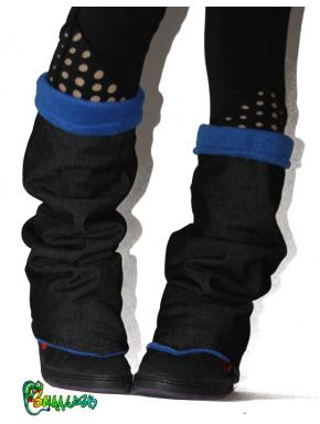 Guêtres jean  et polaire bleu roi