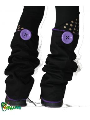 Guêtres noir et violet