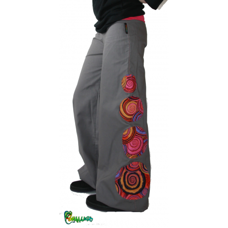 Pantalon personnalisable ronds spirale