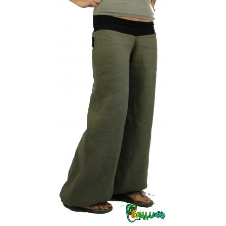 Pantalon lin gris chiné 36 / 160 max