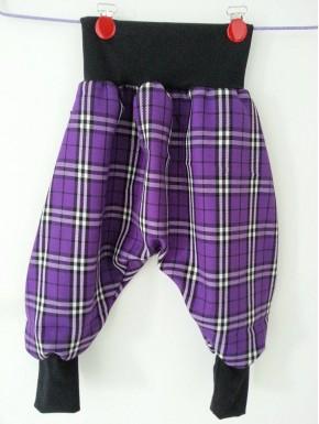 Sarouel  taille 3/24 mois écossais violet