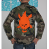 Veste camouflage et fire head orange taille L