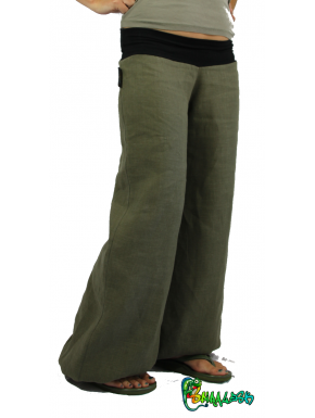 Pantalon large en LIN  couleurs aux choix