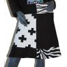 Jupe sur mesures noir et blanc croix et zèbre