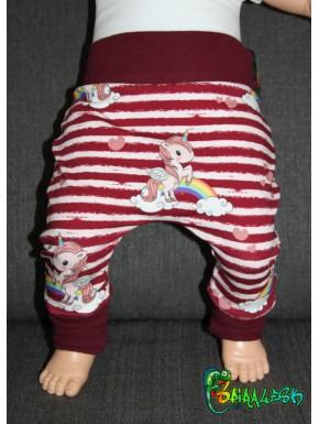 Baggy pant sarouel licorne rayures de 0 à 6 ans