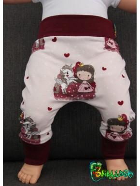 Baggy pant sarouel licorne et poupée de 0 à 6 ans