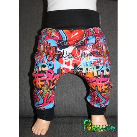 Baggy pant sarouel graffiti multi de 0 à 6 ans
