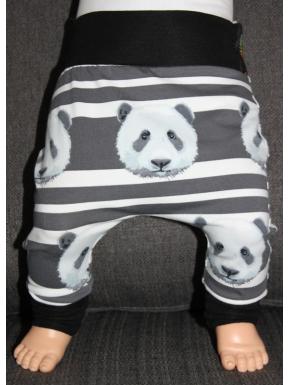 Baggy pant sarouel panda rayure de 0 à 6 ans
