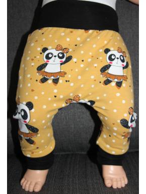 Baggy pant sarouel panda moutarde de 0 à 6 ans