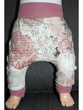 Baggy pant sarouel rose vintage de 0 à 6 ans