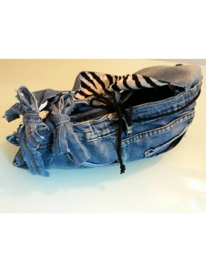 Sac en jean et zebre UP destroyed 2