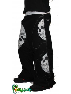 High crotch Sarouel Trousers skull