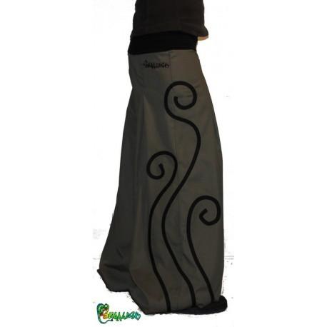 Pantalon large spirale couleurs aux choix