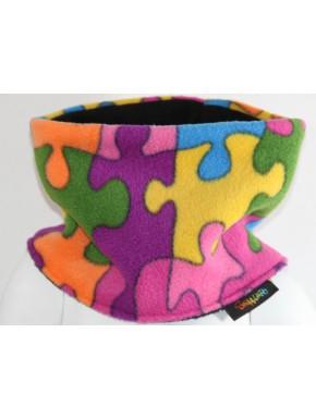 Snood enfant polaire puzzle 3 tailles 2/3 ans, 4/6 ans et 8/12 ans