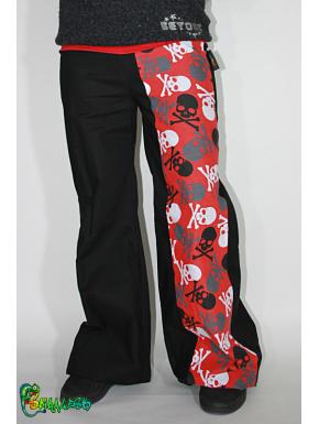 36-38 Pantalon large bande tête de mort
