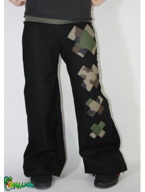 36-38 Pantalon large croix camo