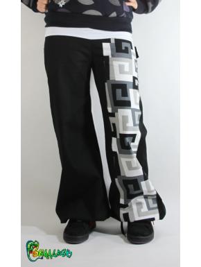 36-38 Pantalon large bande spirales