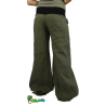 Wide linen khaki pants