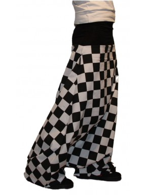 Sarouel Trousers black and white checkered