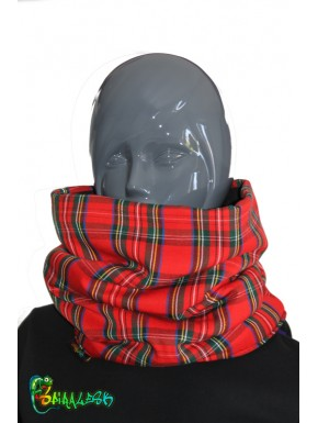 Plaid scarf tube