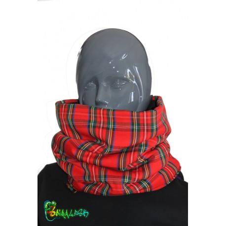 Écharpe tube à écossais  rouge