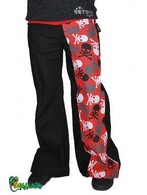 Ampi pantaloni di lino color kaki
