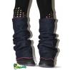 Guêtres jean  et polaire violet
