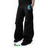 Pantalon large broderie plumes