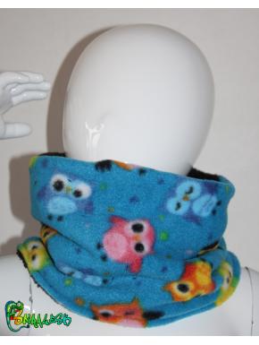 Snood enfant polaire hiboux  3 tailles 2/3 ans, 4/6 ans et 8/12 ans