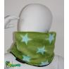 Snood enfant polaire étoiles vertes 3 tailles 2/3 ans, 4/6 ans et 8/12 ans