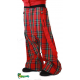 Sarouel écossais rouge à bretelles