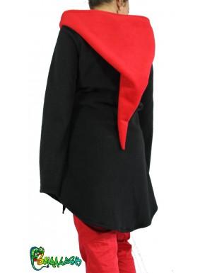 Veste polaire noire / fuchsia L/XL