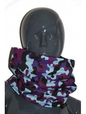 Snood camouflage violet  unisexe