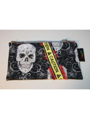 pochette tête de mort et caution