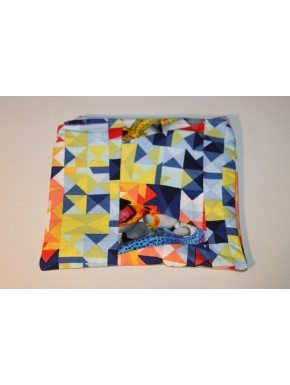 pochette patch multicolore