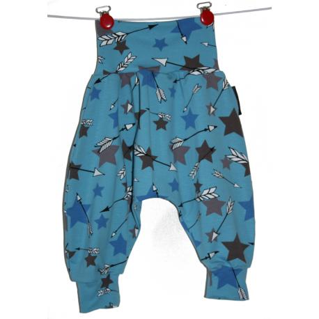 Sarouel taille évolutive 3 à 24 mois étoiles bleu