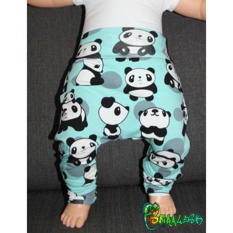 Baggy pant sarouel panda menthe gris noir et blanc